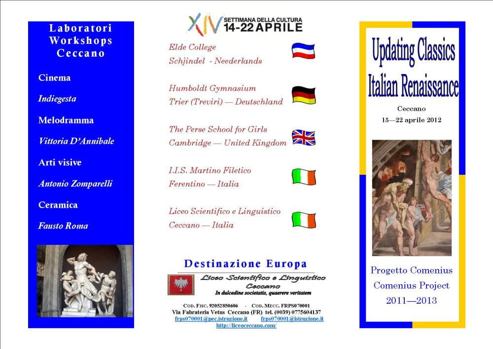 Updating classics, da tutta Europa sui passi di Enea  (1/2)