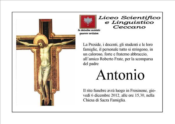manifesto funebre papa roberto frate