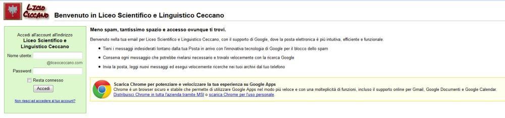 Mail @liceoceccano.com