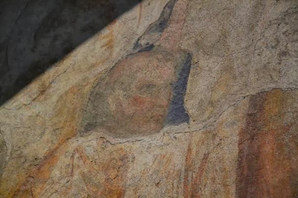 il volto del card. Annibaldo nell'affresco di Simone Martini