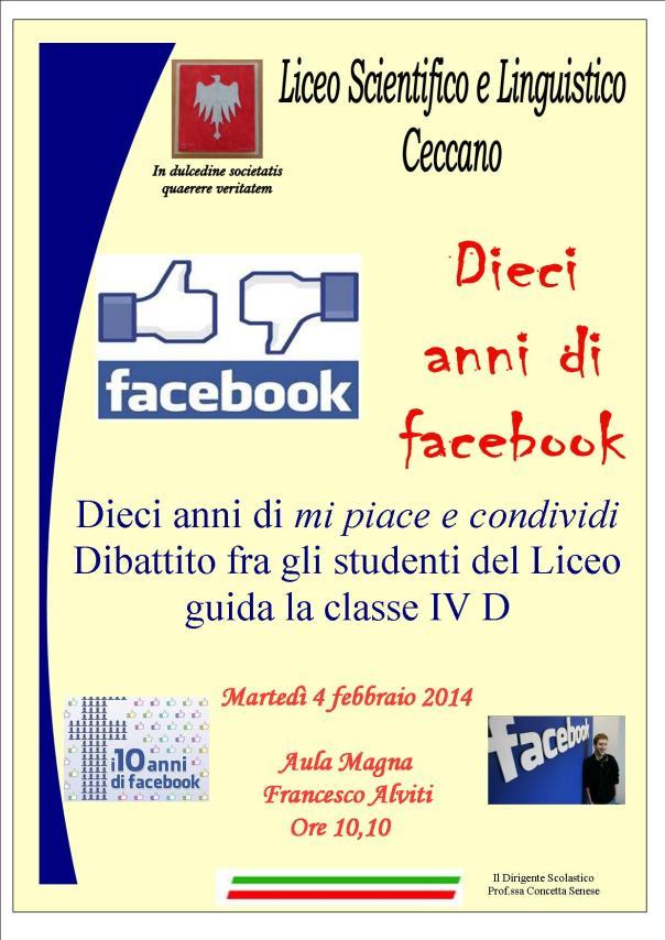 10 anni di facebook manifesto