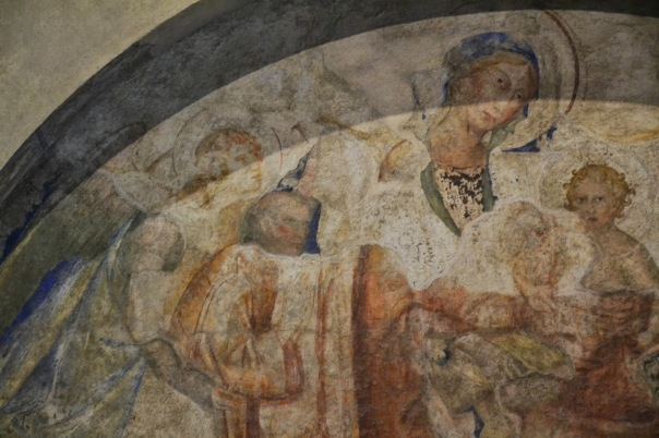 il volto di Annibaldo nell'affresco di Simone Martini - Avignone, Palazzo dei Papi