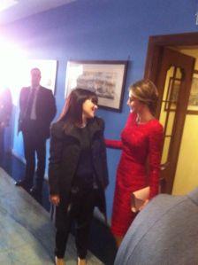 con la regina di Spagna, Letizia