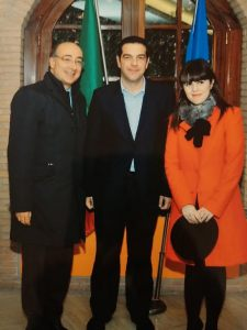 Fabiana con Tsipras